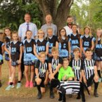 Tenterden CoF Junior School Netball and Football kits sponsored my NCS Technology
